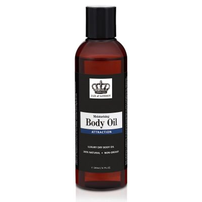 Attraction Body Oil Body Oil Cologne Fragrance, 100% Natural alcohol-free, A blend of natural oils to lock in moisture, Great gym body oil.