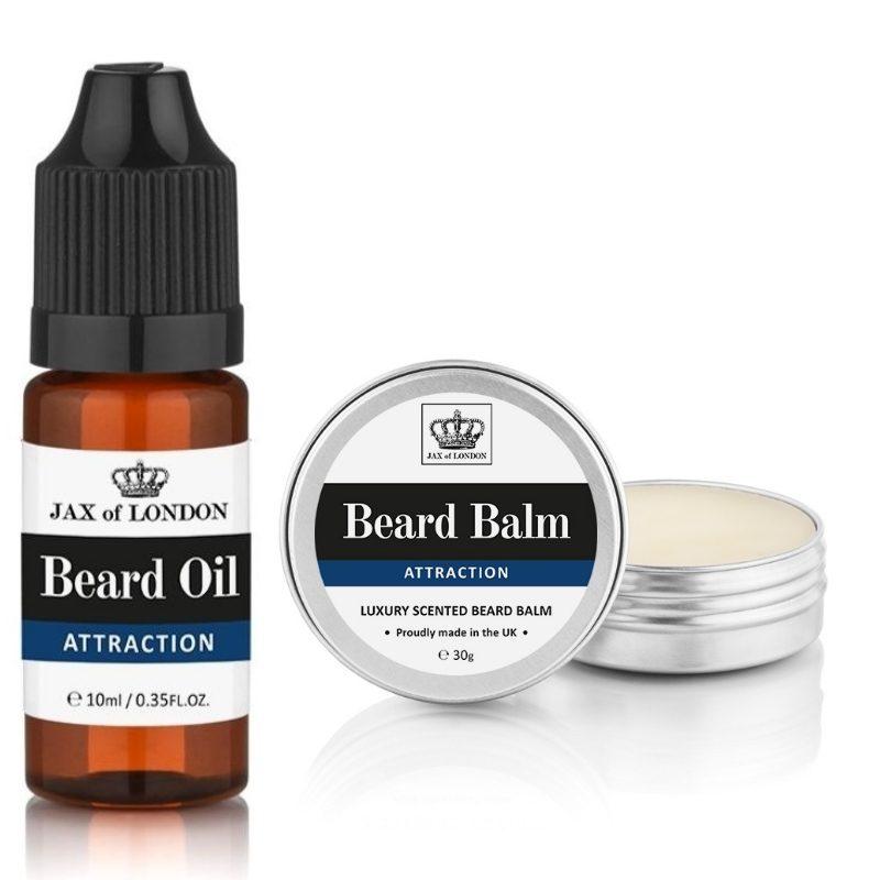 Attraction Cologne Beard Balm & Beard Oil Set