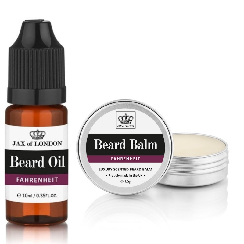 Fahrenheit Inspired Beard Balm & Beard Oil Set