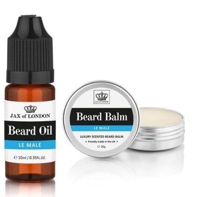 Le Male Cologne Beard Balm & Beard Oil Set