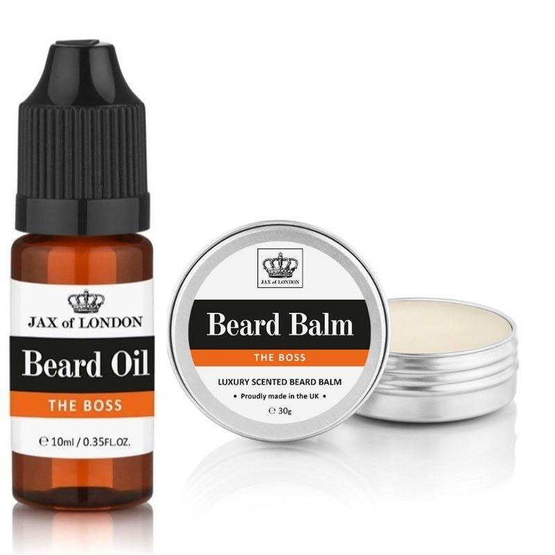 The Boss Cologne Beard Balm & Beard Oil Set
