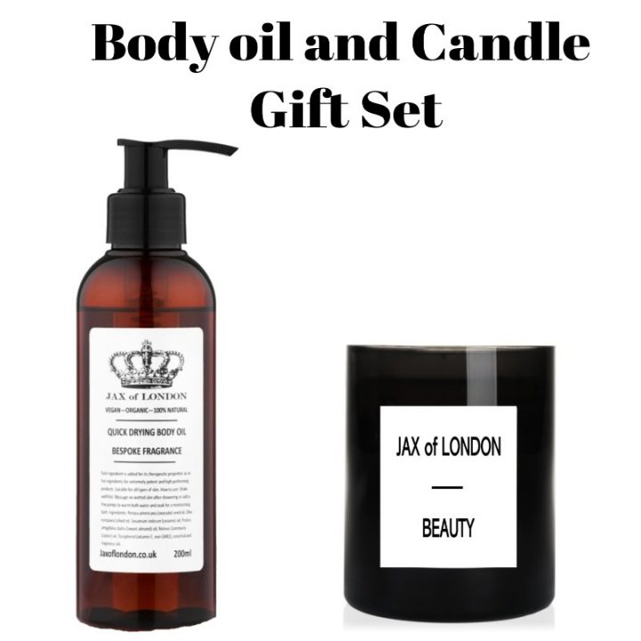 Body Oil & Candle Gift Set