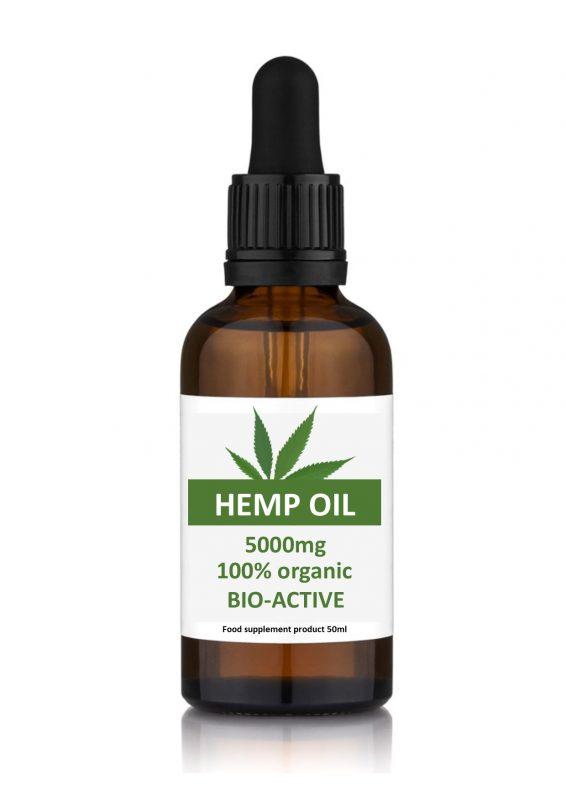 Hemp Oil High Strength 5000mg 50ml Dropper Bottle