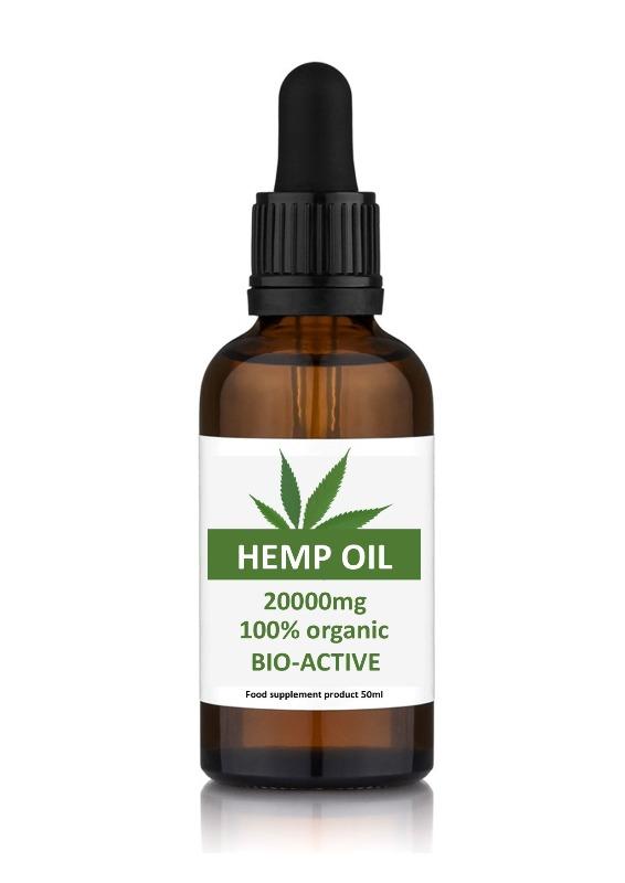 Hemp Oil High Strength 20000mg 50ml Dropper Bottle
