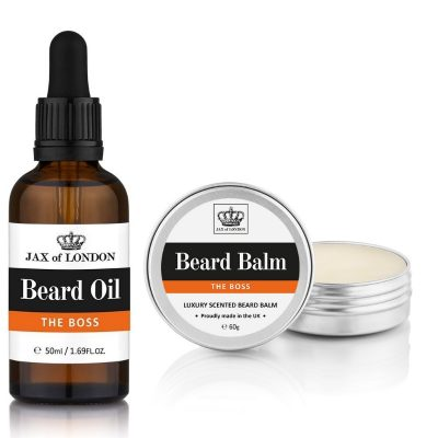 THE BOSS 50ML BEARD OIL AND 60G BEARD BALM SET