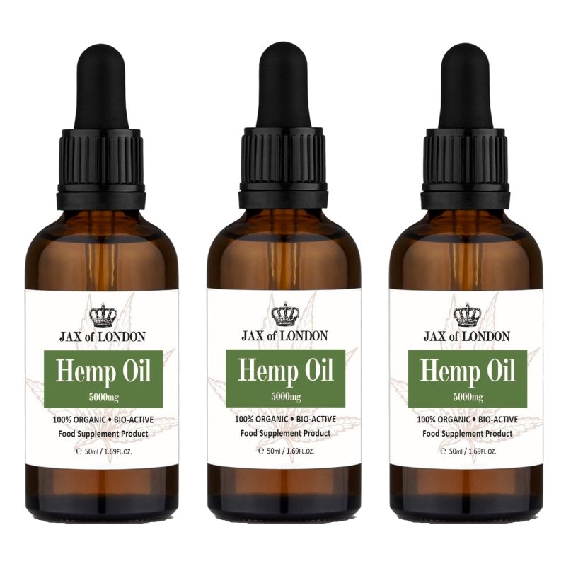Hemp Oil 5000mg 3 Bottle Multi Packs