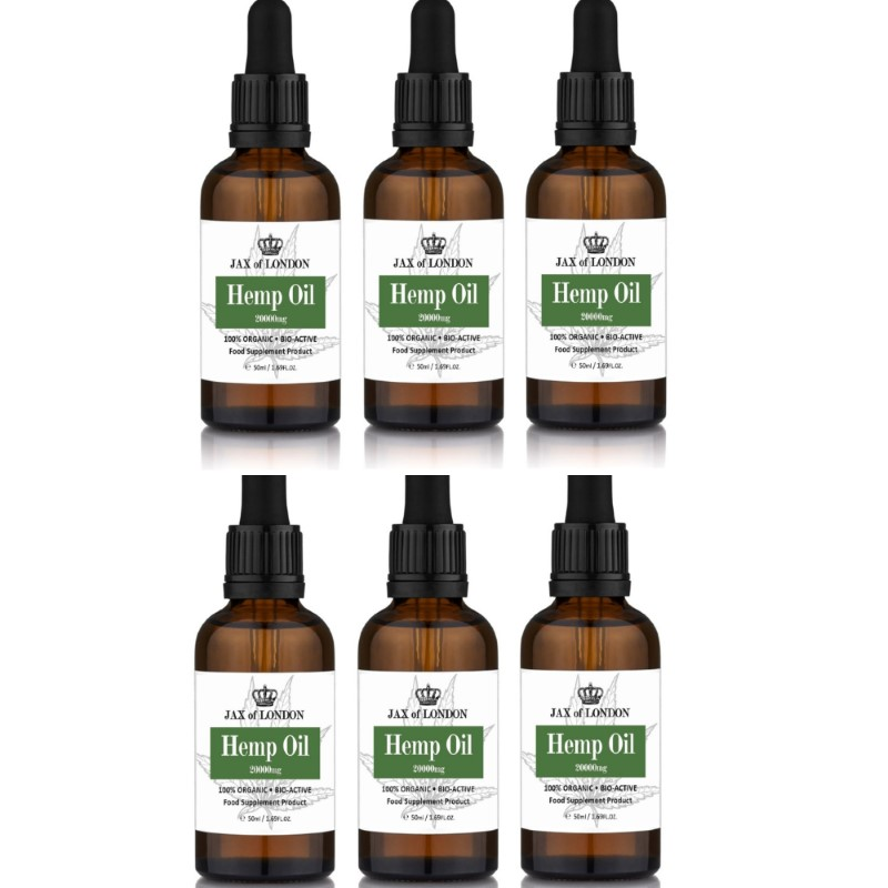 Hemp Oil 20000mg 6 Bottle Multi Packs