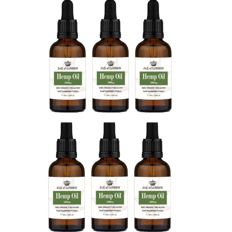 Hemp Oil 5000mg 6 Bottle Multi Packs